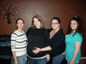 Lynn, me (preggers with Liv), Courtney and Margaret